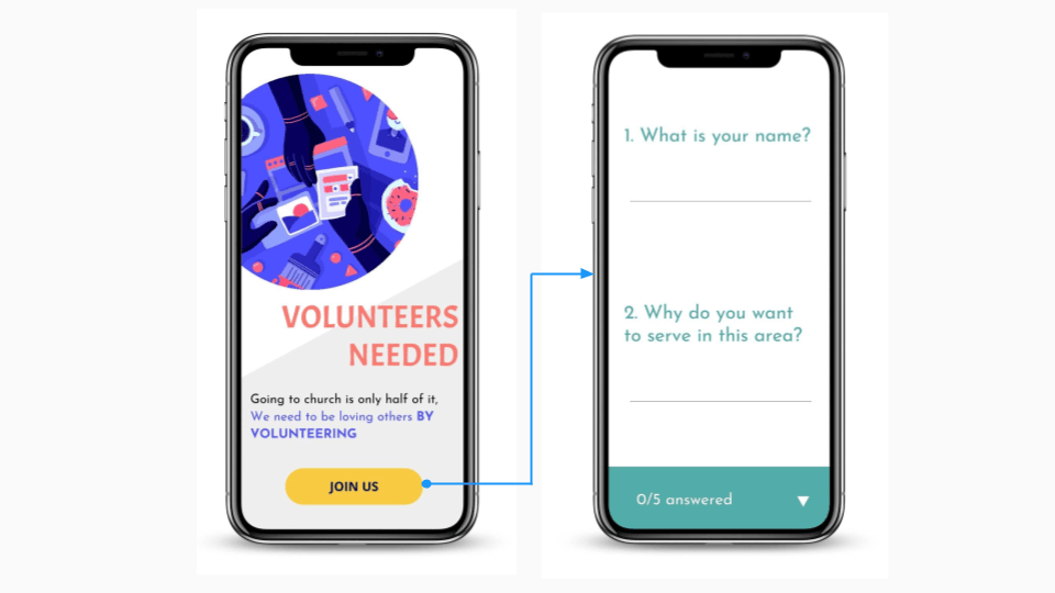 Recruit volunteers using beacon campaigns