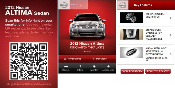 Nissan increases mobile engagement with QR codes