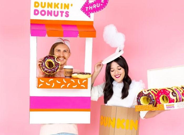 Halloween Marketing campaign: Dunkin' Donuts social media posts