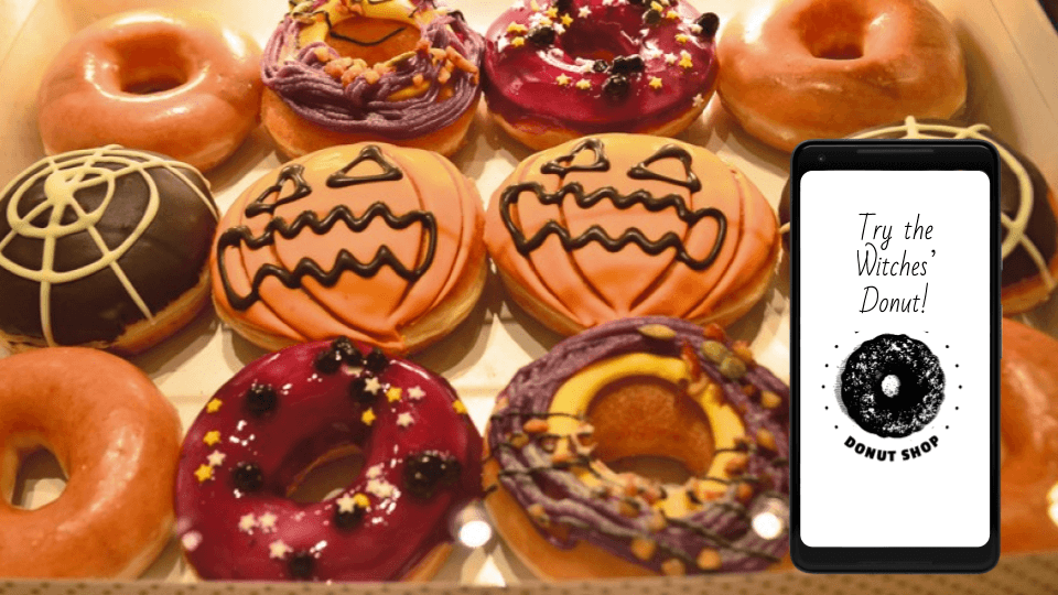 Halloween marketing campaigns: Halloween-themed goodies