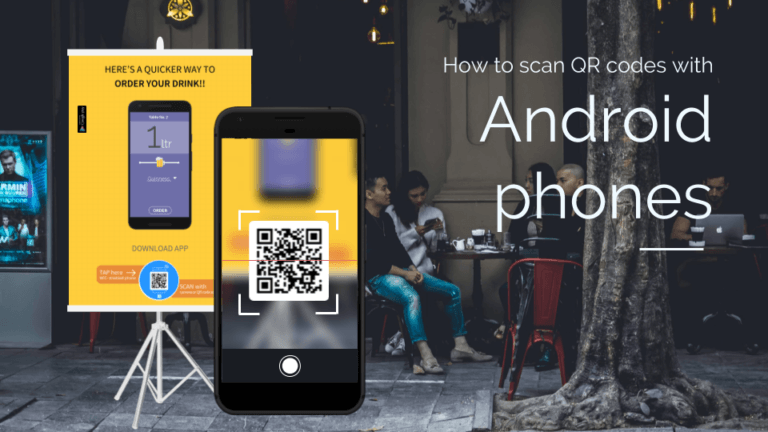 How to scan QR codes with Android phones