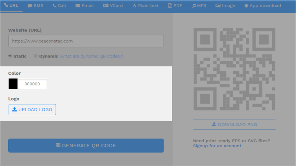Step 4: Customize the QR code