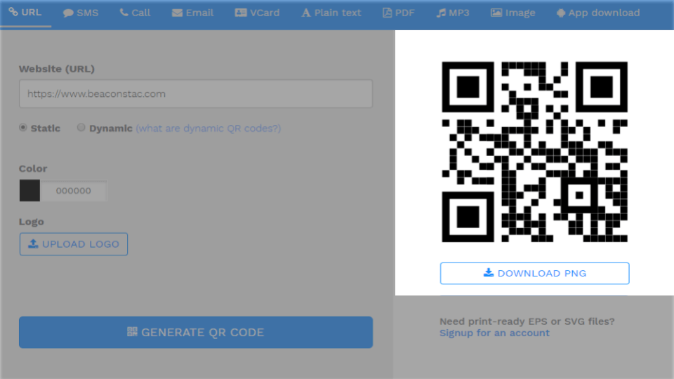Step 5: Generate and download high-quality QR codes for print