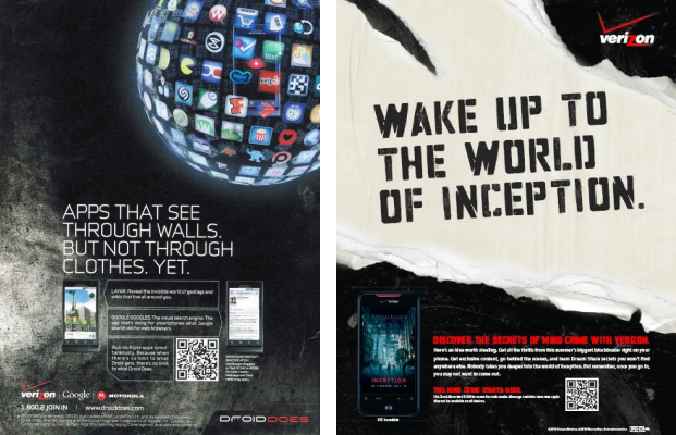 Verizon Dynamic QR Code marketing campaign