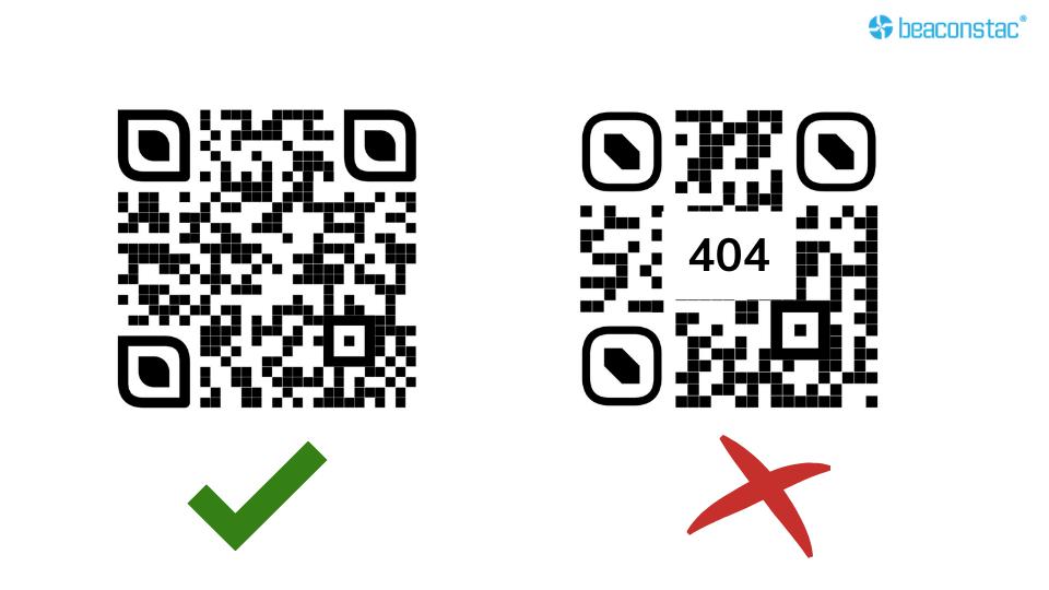 Broken link directed with a QR Code
