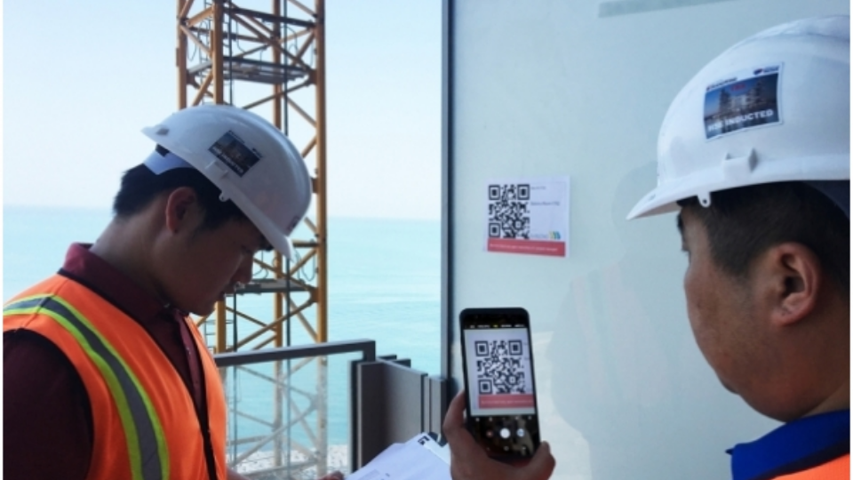 QR Codes in construction for operational procedures