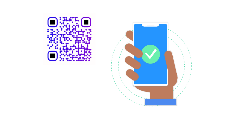 QR code functionality test with mobile phone