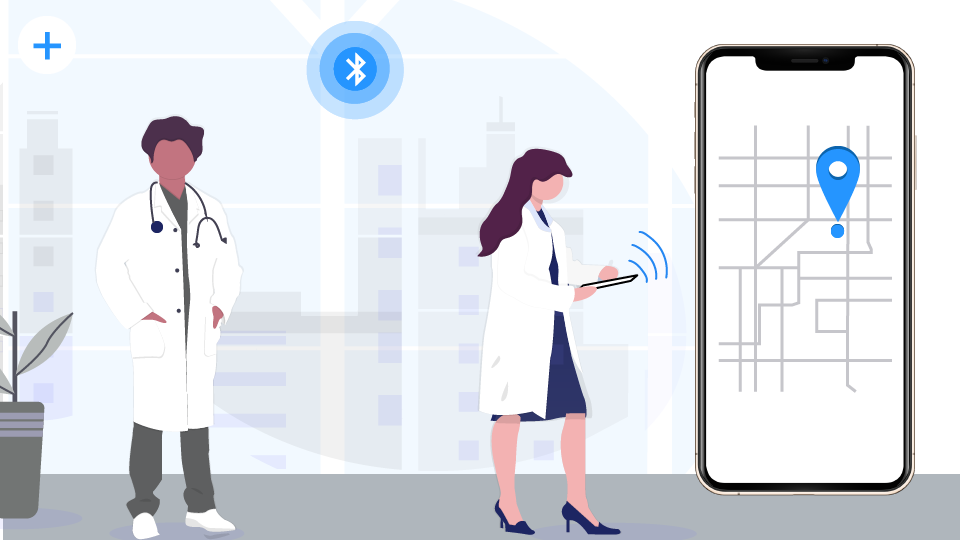 Digital wayfinding for hospitals with beacons