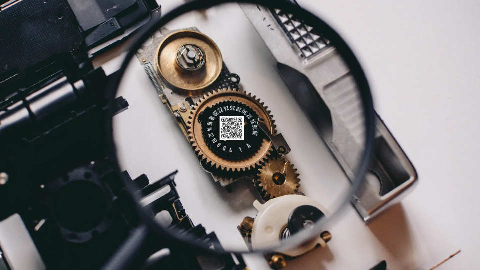 QR Codes on automobile parts for easy identification