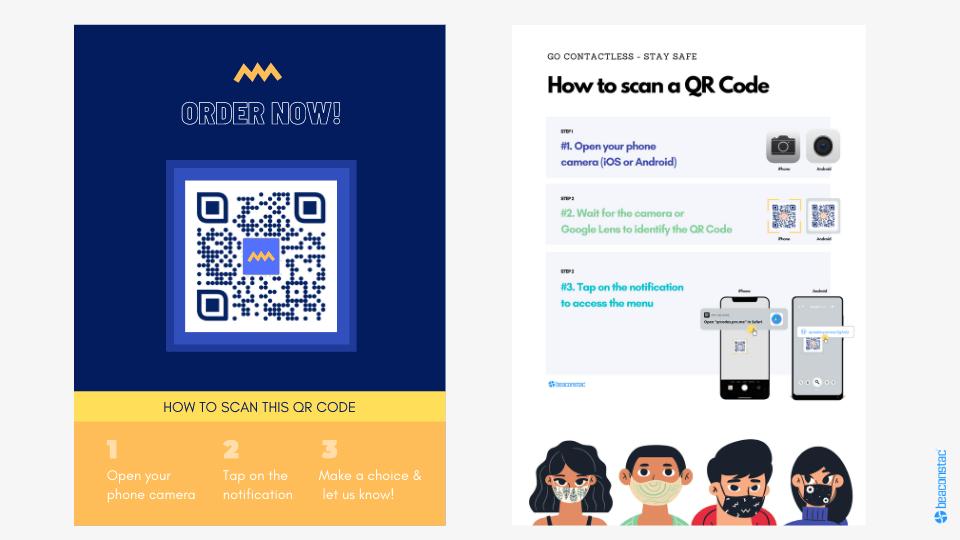 QR Code menu poster examples