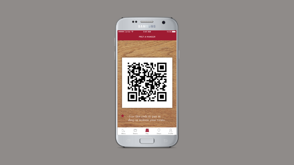 Pret A Manger's QR Codes to promote loyalty programs