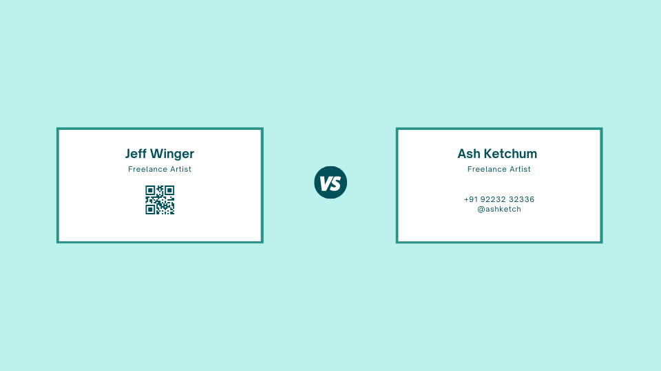 QR Codes on business cards gives technological edge