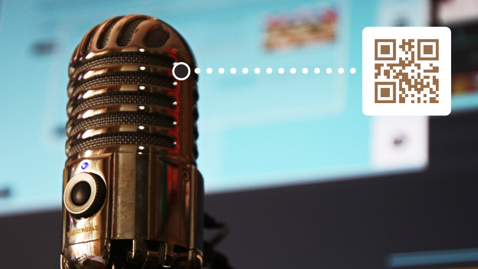 Share podcasts and audiobooks with audio QR Codes