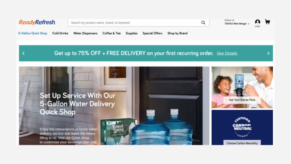 ReadyRefresh - Nestlé Waters' e-commerce subscription channel