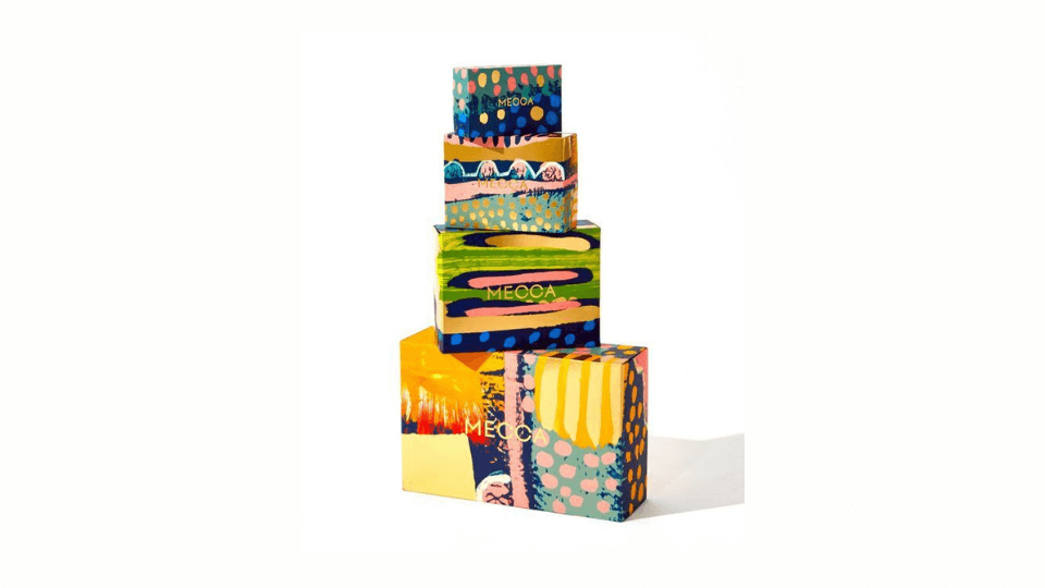 Take the modern packaging route using abstract art