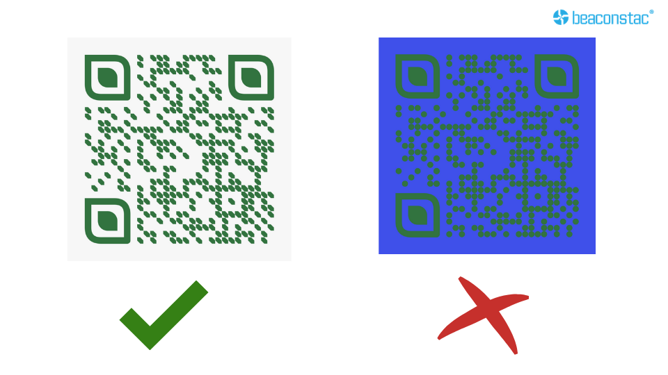 Be careful of the contrast of the QR Code