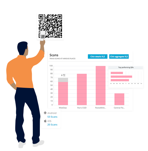 Tracking of QR Codes