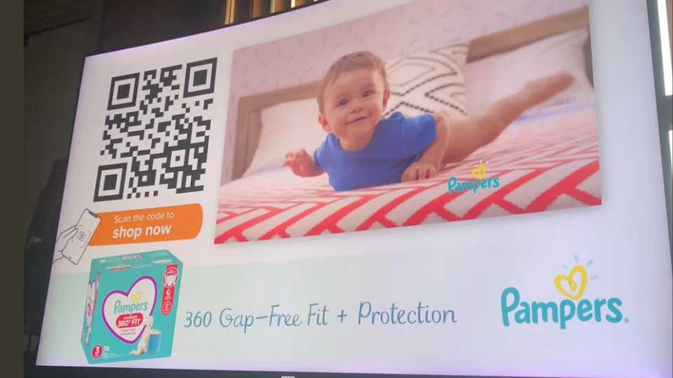 Add instructions around QR Codes on TV commercials