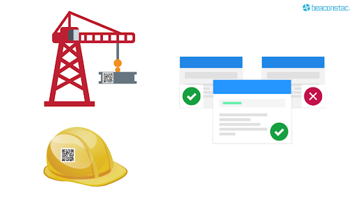 Verify tools to be used in construction using QR Codes